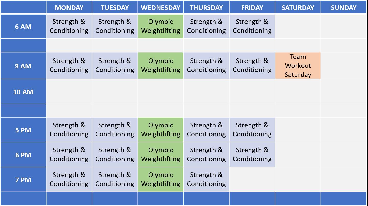 C3 Hawthorne Schedule