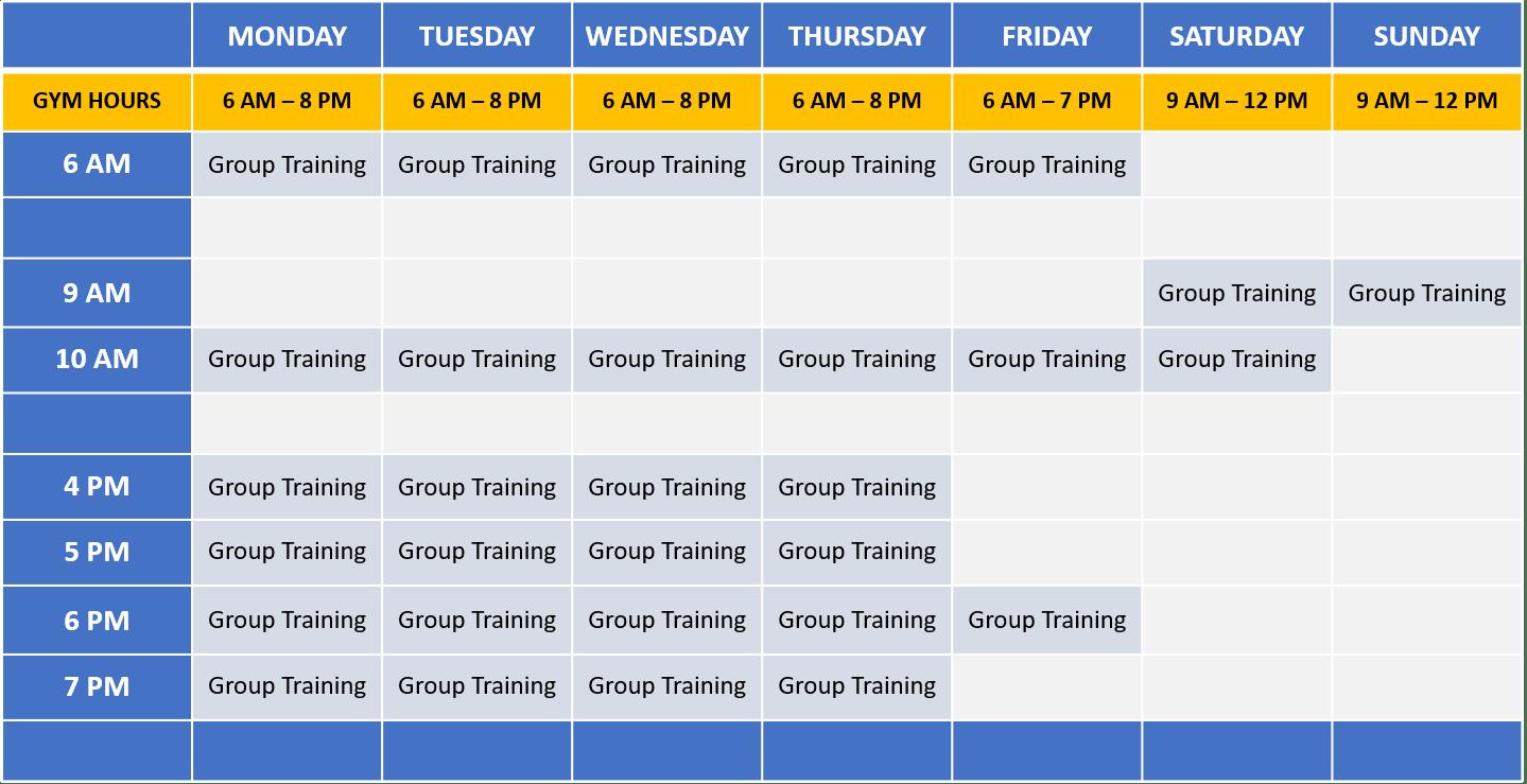 C3 Class Schedule - 2021-03-27